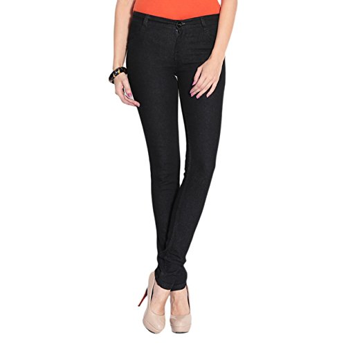 Ganga Womens Denim Jeans (Blk40728_30 _Black _30)