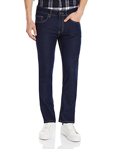 DJ&C Men's Basic Stretch Skinny Fit Jeans (8907403146101_Basic Stretch Indigo_34W x 34L)