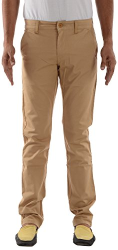 London Jeans Men's Slim Fit Stretchable Chinos (LJRVNDK, Khaki, 36)