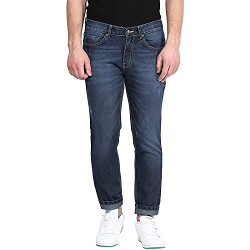 American Crew Men's Straight Fit Dark Blue Jeans – 34 (ACJN106-34)