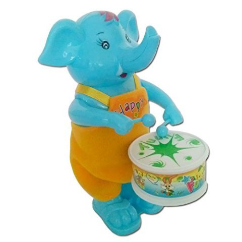 Funny Windup Elephant Drummer Toy