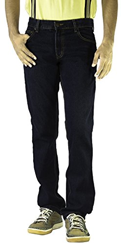London Jeans Co. DNMX Men's Tapered Jeans (ljnc786dk, Dark blue, 38)