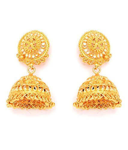 Divinique Jewelry Gold Plated Traditional Jhumki for women