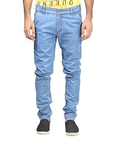 Trendy Trotters Mens Denim Jeans (Ttj1Crsnl-L32 _Light Blue _32)