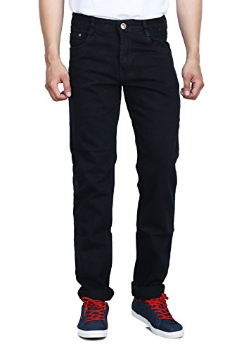 Studio Nexx Men's Regular Fit Non Stretch Denim (Black, Size – 32)