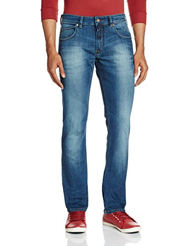 French Connection Men's Skinny Fit Jeans (886928727478_54EIX_32W x 32L_Mid Blue)