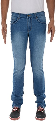 London Jeans Co. DNMX Men's Slim Fit Jeans (Light Blue, 32)