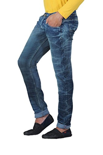 JCTex Men's Jeans (silver v34_Blue_34)