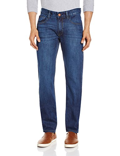 Highlander Men's Slim Jeans (13140001423448_HLJN000463_34_Indigo)