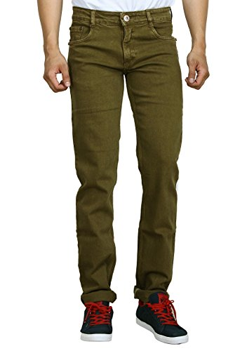 Studio Nexx Men's Regular Fit Jeans (Golden, Size – 42)