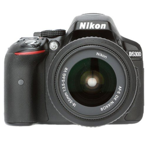 Nikon D5300 24.2MP Digital SLR Camera (Black) with 18-55mm VR Kit Lens, 8GB Card and Camera Bag