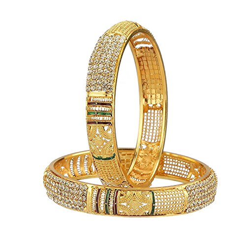 YouBella Traditional Jewellery Gold Plated Bangles for Women