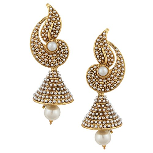 Pearl flower Indian pearl jhumka jhumki jewelry earings for women jhumkas earrings