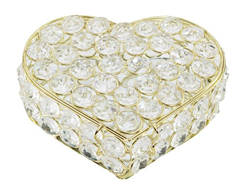 Homesake Heart Shaped Crystal Jewelry Box