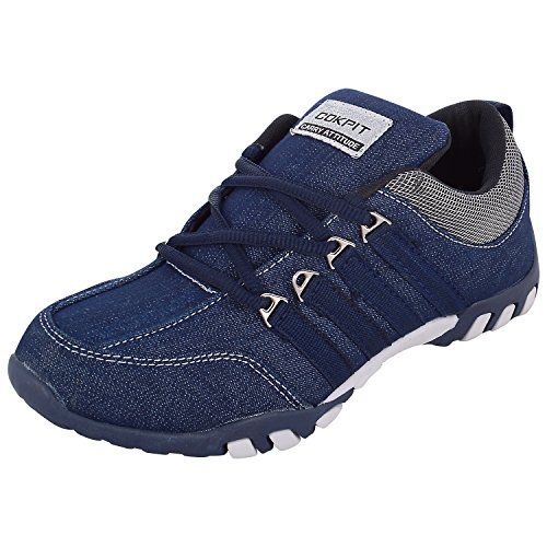 Cokpit Men's Blue Denim Casual Sports Shoes-8 UK (ritss04)