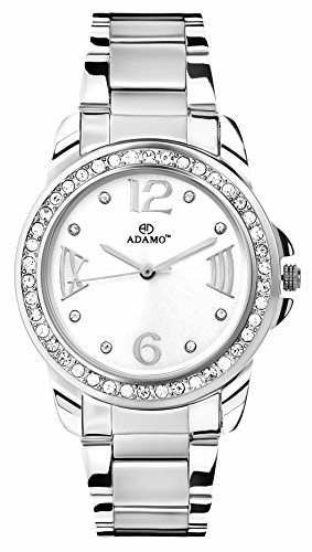 Adamo Analog White Dial women's Watch – AD39SM01
