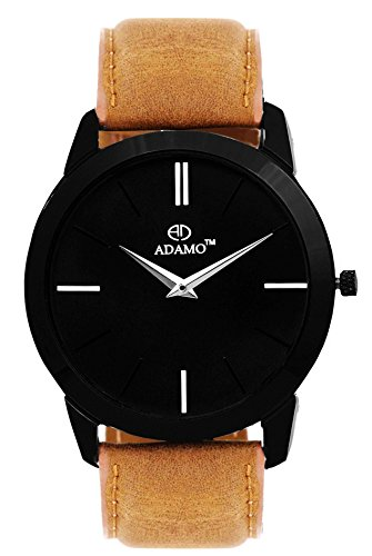 ADAMO Analogue Black Dial Men's Watch-AD64BS02