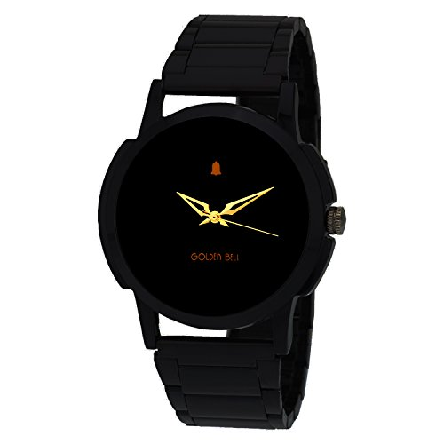 Golden Bell Original Mesmerizing Black Dial Wrist Watch GB-230BlkDBlkStrap