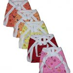 Montu Bunty Wear New born Baby Pure Cotton Cloth Nappies (Pack of 5)