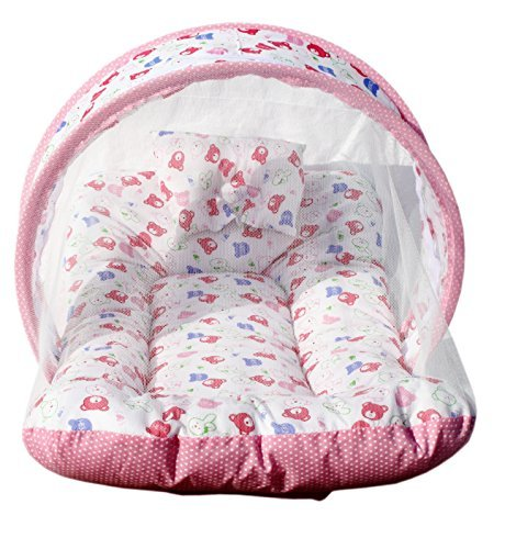 Amardeep and Co Toddler Mattress with Mosquito Net (Pink) – MT-01-Pink