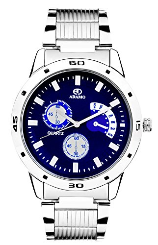 Adamo Analogue Blue Dial Watch for Men- AD108-2