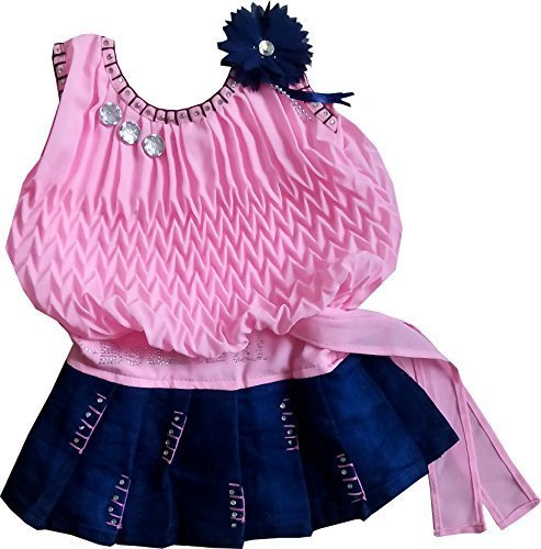 Cute Fashion Baby Girls Princess Party Wear Dresses Plating Midi Skirt Clothing Set for 3 – 6 Months