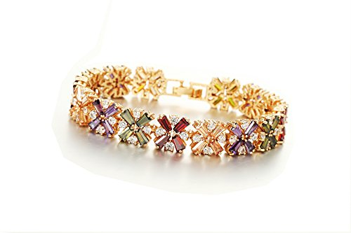 Ananth Jewels Swarovski Zircon Multicolour Fashion Jewellery Bracelet for Women