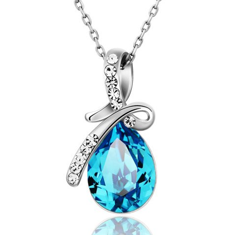 Ananth Jewels Swarovski Crystal Gift for Valentine Tear Drop Fashion Jewellery Set for Women