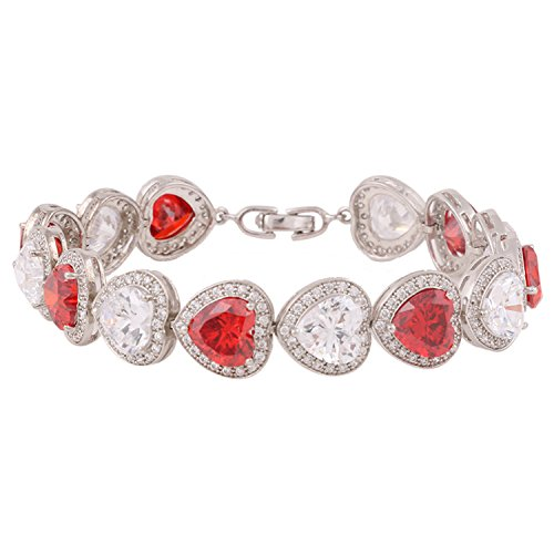 Ananth Jewels Swarovski Zirconia Heart Solitaire Pure Brilliance Luxurious Bracelet for Women