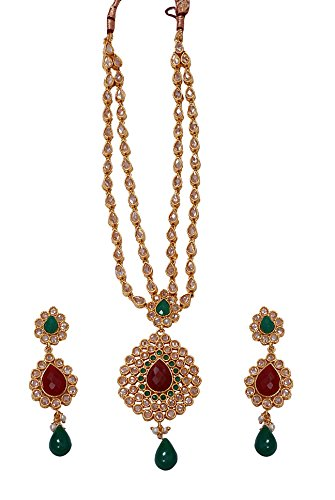 Kerala Vishu Festival Gifts-Gold plated kundan imitation Necklace for women n ladies n college girls JB2050