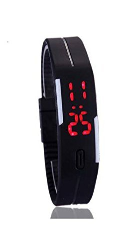 Ishita Fashions CurioCity LED Watches Unisex Silicone Rubber Touch Screen Digital Watches, Bracelet Wristwatch – color available (Black ,dark blue, white, Blue)