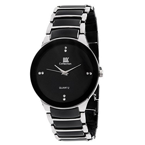 IIK Collection Analog Black Dial Men's Watch-Iik021N (free extra battery)