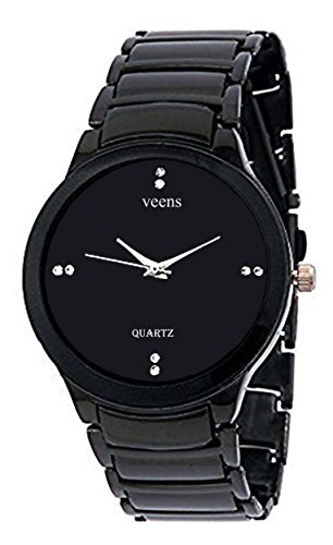 Veens Analogue Black Dial Watch for Men- 1115