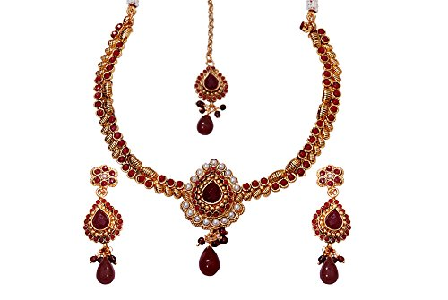 Kerala Vishu Festival Gifts-Gold plated Antique necklace for women n college girls n ladies JB2052